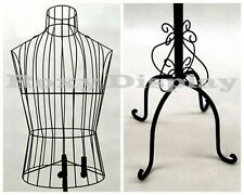 Metal Male Wire Form with Antique Metal Base #TY-XY140079B