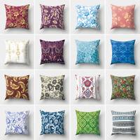 ITS- KF_ Ethnic Floral Print Peach Skin Home Sofa Decor Pillowcase Cushion Cover