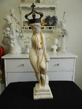"""Exquisite Vintage 25"""" FRENCH WOMAN GARDEN STATUE~Perfect Home Decor"""