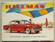 HILLMAN MINX Car Sales Brochure c1959 #649/H De Luxe Saloon CONVERTIBLE Estate