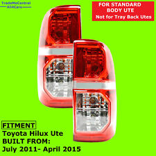 LEFT and RIGHT Hand Side Tail Lights Toyota Hilux 2011 2012 2013 2014 2015 UTE
