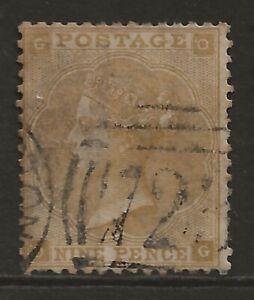 GB 1862 9d bistre fine used SG#86 cv£575