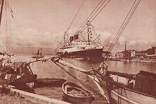 G1256 Guadeloupe - Transatlantique Colombie à quai à Pointe-à-Pitre - 1935 print