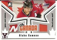 2005-06 ITG Heroes & Prospects Oh Canada Emblem Jersey Blake Comeau Vault 1/1