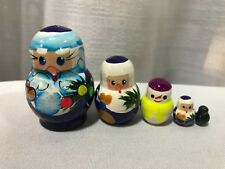 Russian Nesting Dolls Santa 5 pcs Miniature Set/ Christmas Gift