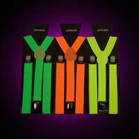 Neon Braces Fancy Dress Suspenders