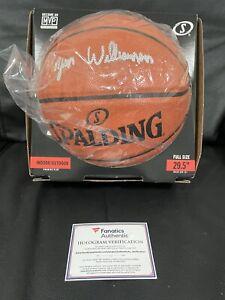 ZION WILLIAMSON AUTOGRAPHED SIGNED FULL SIZE NBA BASKETBALL FANATICS COA