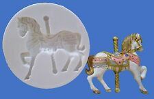 6.5cm Carousel Horse Stampo in silicone per cake topper, cioccolato, argilla ecc.