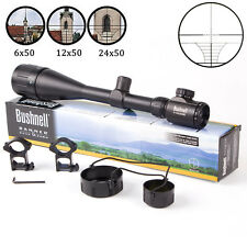 New 6-24x50mm AOE Elite ERS Rifle Scope +Free 20mm Rail Illuminated Hunting