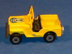 1976 Matchbox Superfast #5 Gliding Club Jeep, for Parts or Restore