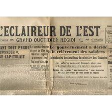 L'ÉCLAIREUR de L'EST 30 Mai 1941 Bouzy Fismes Prouilly Salaires ROOSEVELT Crète