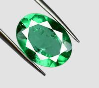 5-6 Ct Muzo Colombian Emerald 13 x 9 mm Gemstone 100% Natural Oval Cut Certified