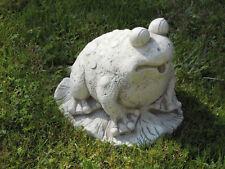 Frosch Steinfigur klein frostfest Gartenfigur Deko Steinguss