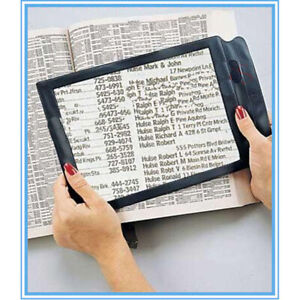 2x Triple Reading Full Page Magnifier for Elderly Presbyopic Low Vision Aids