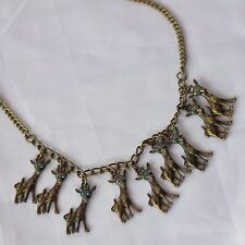 Vintage Reindeer Statement Necklace