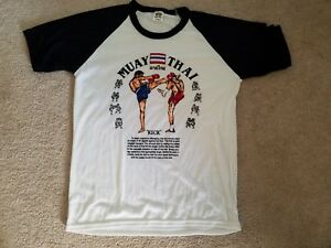 MMA Muay Thai T-shirt from authentic from Thailand Large RARE brand new VIER