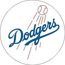 12 Sticker Los Angeles Dodgers Baseball  Vinyl Car Bumper Window laptop  Decal