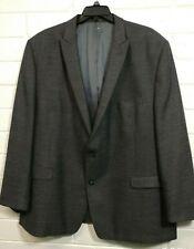 Plus Men's CALVIN KLEIN BLAZER SPORT SUIT JACKET Size 56 L  2 Buttons 100% Wool