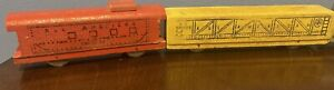 VINTAGE Solid WOODEN STREAMLINE TRAIN ALL AMERICAN RR PRIMITIVE FOLK ART
