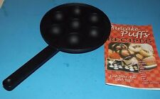 Black Cast Iron Skillet Frying Puff Pan 7 Egg Puffy Pancakes Cornbread about 7.5