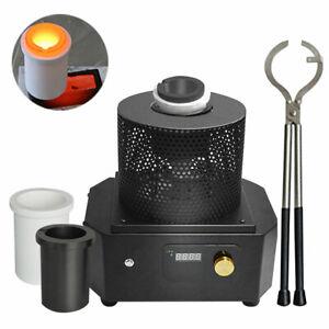 Induction Heater Gold Melting Furnace Smelt Metal Copper Iron Steel 1600℃/2912°F