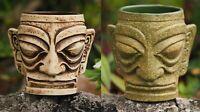 Two (2) Kahiko Tiki Mugs by Munktiki Imports and Kaku Kaku - Both Glazes