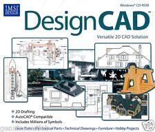 DesignCad 22 Imsi 2D CAD Solution Software AutoCAD PC XP Vista 7 8 Brand New
