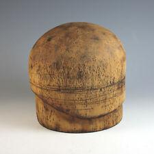 Art Deco Wood Wooden Hat Mold Cloche