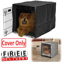 Dog Crate Cover Polyester Kennel Pet Wire 22/24/30/36/42/48 XL Large Comfort New