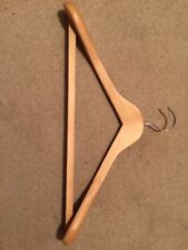 Brand New Premium Natural Wooden Suit Hangers, with non slip trouser bar 45 cms