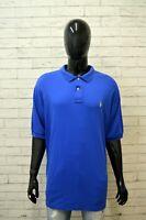 Polo RALPH LAUREN Maglia Taglia Forte Uomo Shirt Big Size Manica Corta Hemd Blu