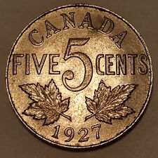 1927 5C Canada 5 Cents AU