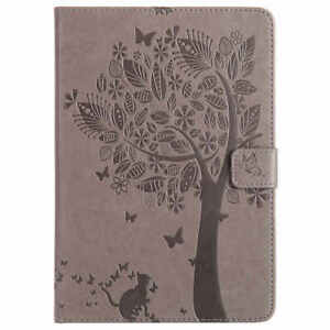 3D Embossed Wallet Flip Leather Card Holder Case Cover For iPad 5th Gen Air Pro