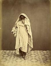 Photo Albuminé Femme Tunisienne Vers 1880