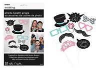 10 PIECE WEDDING ENGAGEMENT HEN STAG PARTY FUN SELFIE PHOTO BOOTH PROPS