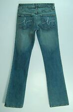 """Stitched Pocket LOW Flare Leg BEBE Stretch SOPHIE Jeans! 25 (0) LONG 34"""" Inseam"""