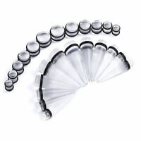 Tapers Stretching Kit Plugs Set 24pc Big Gauges 00G-20MM Clear