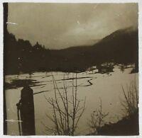 Paesaggio Con La Neige Foto Placca Stereo Vintage LA3
