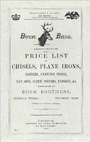 Buck Bros. 1890 Catalog, Paperback, Like New Used, Free shipping in the US
