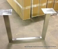 """Set of 31"""" wide Legs Dining for Table slabs all weights stainless steel sturdy"""