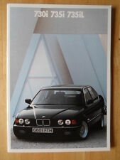 BMW 7 Series 1989 1990 UK Mkt Prestige Brochure Prospekt - 730i 735i 735iL E32