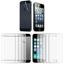5X Clear Transparent LCD Screen Protector Film For  iPhone 5 5S Front+Back Film