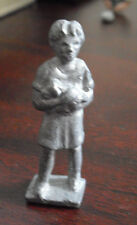 "Vintage Lead Girl Holding Puppy Dog Figurine 2"" Tall"