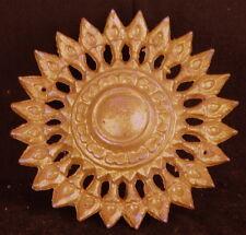 GOLD wall STAR round architectural fleur de lis chic Antique gilt vintage shabby