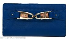 NWT RARE Juicy Couture Hillcrest Blue Ribbon Leather Continental Wallet YSRU2760