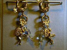 Kirks Folly  keyring bracelet fairy crystal add a charm gold