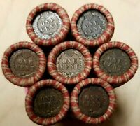 Indian Head Penny / Steel Cent Ender Wheat Penny Lincoln Cent 1909-1958 Roll PDS