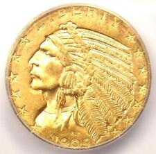 1909-D Indian Gold Half Eagle $5 Coin - ICG MS64 - Rare in MS64 - $2,040 Value!