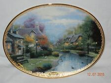 Collector Thomas Kinkade Beautiful Plate Bradford Exchange  Wall hanging