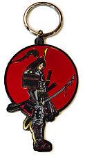 Samurai Metal Key Chain Silver Pocket New